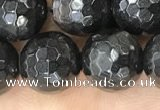 CHS46 15.5 inches 10mm faceted round natural hypersthene beads