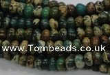 CIJ07 15.5 inches 6*8mm rondelle impression jasper beads wholesale