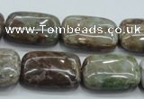 CJA10 15.5 inches 18*25mm rectangle green jasper beads wholesale