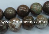 CJA38 15.5 inches 14mm round green jasper beads wholesale