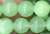 CJB310 15.5 inches 8mm round dyed green jade gemstone beads