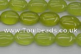 CKA244 15.5 inches 10*14mm oval Korean jade gemstone beads
