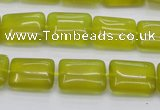 CKA261 15.5 inches 12*16mm rectangle Korean jade gemstone beads