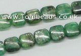 CKC105 16 inches 10*10mm square natural green kyanite beads wholesale