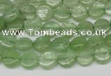 CKC252 15.5 inches 8mm flat round natural green kyanite beads