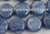 CKC513 15.5 inches 12mm flat round natural Brazilian kyanite beads