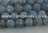 CKC702 15.5 inches 8mm faceted round imitation blue kyanite beads