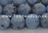 CKC706 15.5 inches 16mm faceted round imitation blue kyanite beads