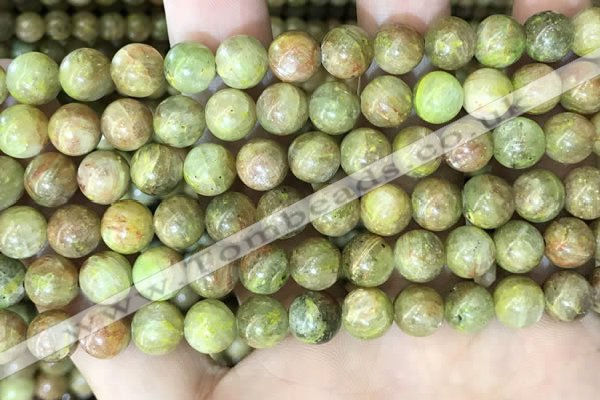 CKC762 15.5 inches 8mm round natural green kyanite beads