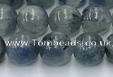 CKC775 15.5 inches 8mm round blue kyanite beads wholesale