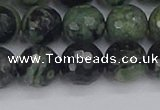 CKJ313 15.5 inches 10mm faceted round kambaba jasper beads