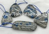 CKJ431 25*35mm - 40*55mm freeform k2 jasper slab pendants
