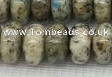 CKJ439 15.5 inches 5*10mm - 6*10mm rondelle natural k2 jasper beads
