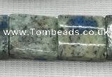 CKJ445 15.5 inches 12*15mm - 14*17mm rectangle natural k2 jasper beads