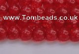 CKQ315 15.5 inches 6mm round dyed crackle quartz beads wholesale
