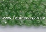 CKQ337 15.5 inches 8mm round dyed crackle quartz beads wholesale