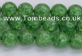 CKQ338 15.5 inches 10mm round dyed crackle quartz beads wholesale