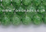 CKQ339 15.5 inches 12mm round dyed crackle quartz beads wholesale