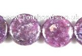 CKU04 15 inches 16mm coin purple kunzite beads wholesale