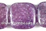 CKU08 15 inches 16*16mm square purple kunzite beads wholesale