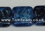 CKU120 15.5 inches 25*25mm square dyed kunzite beads wholesale
