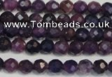 CKU21 15.5 inches 6mm faceted round purple kunzite beads wholesale