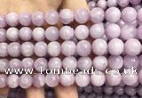 CKU322 15.5 inches 10mm round natural pink kunzite beads