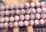 CKU323 15.5 inches 12mm round natural pink kunzite beads