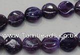 CKU36 15.5 inches 12mm flat round purple kunzite beads wholesale