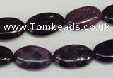 CKU40 15.5 inches 12*20mm oval purple kunzite beads wholesale