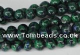 CLA480 15.5 inches 8mm round synthetic lapis lazuli beads