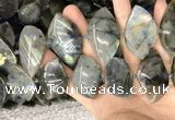 CLB1005 15.5 inches 18*35mm - 25*45mm marquise labradorite beads