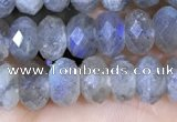 CLB1053 15.5 inches 5*8mm faceted rondelle labradorite gemstone beads