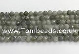 CLB1076 15.5 inches 8mm faceted round labradorite beads