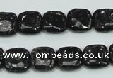 CLB306 15.5 inches 12*12mm square black labradorite gemstone beads