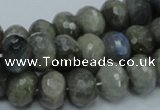 CLB32 15.5 inches 10*14mm faceted rondelle labradorite gemstone beads