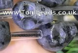 CLB378 15.5 inches 12*14*14mm skull black labradorite gemstone beads