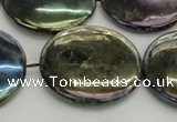 CLB642 15.5 inches 30mm flat round AB-color labradorite beads