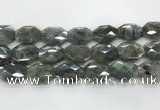 CLB797 18*24mm - 20*25mm faceted octagonal labradorite beads