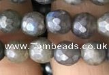 CLB881 15.5 inches 6mm faceted round AB-color labradorite beads