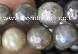 CLB882 15.5 inches 8mm faceted round AB-color labradorite beads