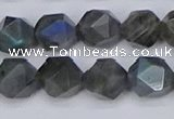 CLB988 15.5 inches 10mm faceted nuggets labradorite beads wholesale