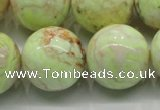 CLE207 15.5 inches 18mm round lemon turquoise beads wholesale