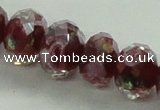 CLG02 12 inches 6*8mm faceted rondelle handmade lampwork beads