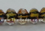 CLG54 13 inches 9*12mm faceted rondelle handmade lampwork beads