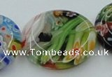 CLG597 16 inches 25mm flat round lampwork glass beads wholesale