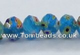 CLG65 15 inches 8*10mm faceted rondelle handmade lampwork beads