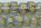 CLG784 14 inches 8*12mm rondelle lampwork glass beads wholesale