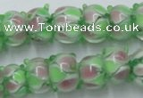 CLG785 14.5 inches 8*12mm rondelle lampwork glass beads wholesale