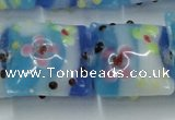 CLG808 15.5 inches 20*20mm square lampwork glass beads wholesale